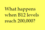 what happens when B12 levels reach 200,000 150
