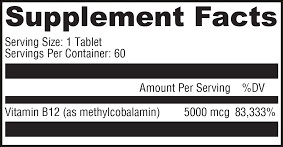 Supplement Facts - Methylcobalamin