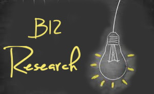 Lightbulb with light rays - Vitamin B12 Research