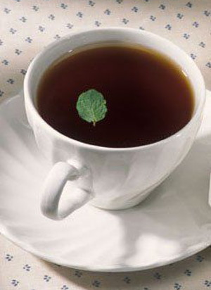photo of tea cup with tea - Vitamin B12 foods include Batabata Cha tea