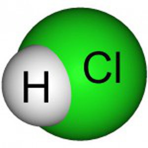hcl - Chemical formula for hydrogen chloride