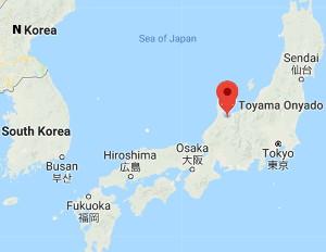 Map - Toyoma, Japan - Where Batabata-cha is grown