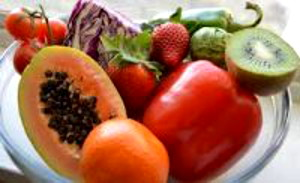 Photo of mango, tomato, cabbage, kiwi and other fruit and veg